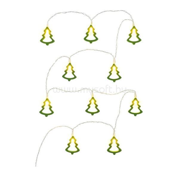 RETLUX RXL 286 10 LED/2x AA/meleg fehér/zöld karácsonyfa zöld karácsonyi fényfüggöny