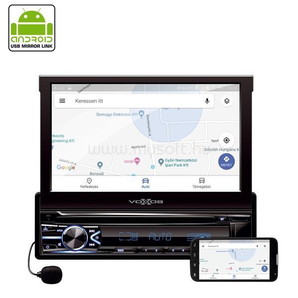"""SAL VB X800i 7"""" LCD-s Bluetooth/MicroSD/USB/AUX autóhifi fejegység"""