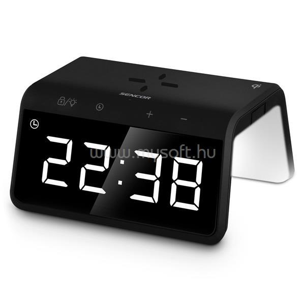 SENCOR SDC 7900 QI éjjeli fénnyel és gyorstöltővel ébresztőóra