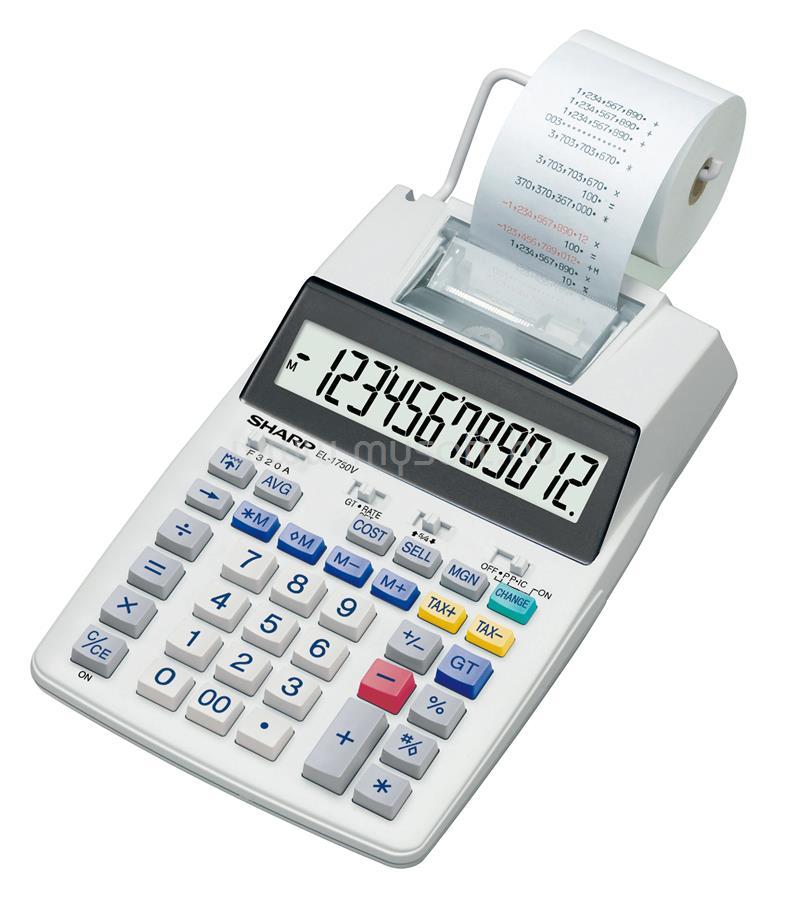 SHARP EL1750V számológép szalagos EL1750V large