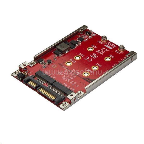 "STARTECH 2 x M.2 - 2.5"" SSD beépítő keret"