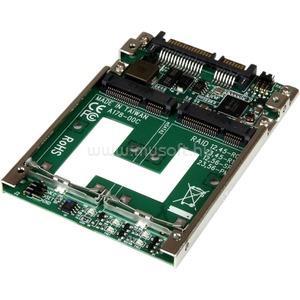 "STARTECH 2x mSATA - 2.5"" SSD RAID adapter"