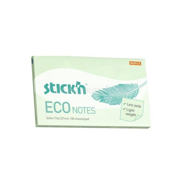 STICK N StickN Eco Note 76x127mm 100lap pasztell zöld jegyzettömb