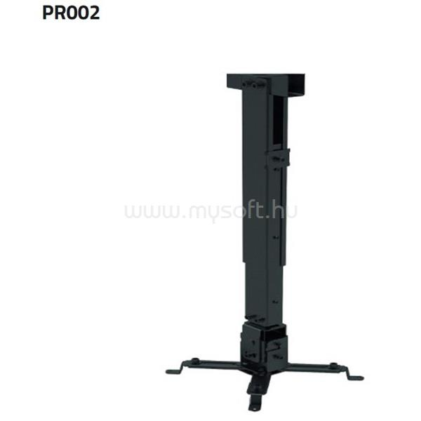 SUNNE (PRO02) Projektor mennyezeti konzol dönthető, Profil: 430-650mm, max 20kg (fekete)