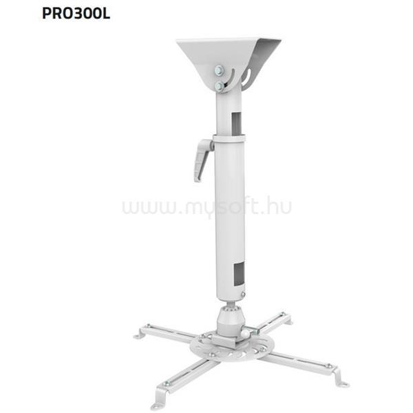 SUNNE (PRO300L) Projektor mennyezeti konzol dönthető,Profil: 620-900mm, max 25kg (fehér)