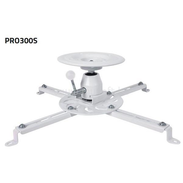 SUNNE (PRO300S) Projektor mennyezeti konzol dönthető, Profil: 135mm, max 25kg (fehér)