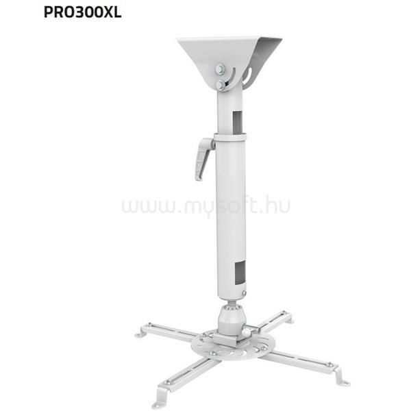 SUNNE (PRO300XL) Projektor mennyezeti konzol dönthető,Profil:820-1200mm, max 25kg (fehér)