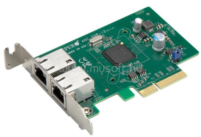 SUPERMICRO Std LP 2-port GbE RJ45, Intel i350