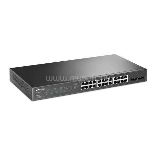 TP-LINK Switch 24x1000Mbps (24xPOE) + 4xGigabit SFP, Menedzselhető, TL-SG2428P