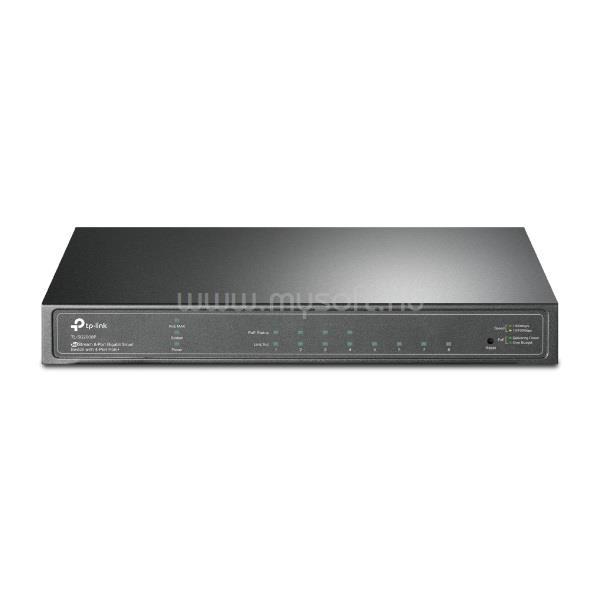 TP-LINK Switch 8x1000Mbps (4xPOE+), Fémházas Asztali/Rackes, Menedzselhető, TL-SG2008P