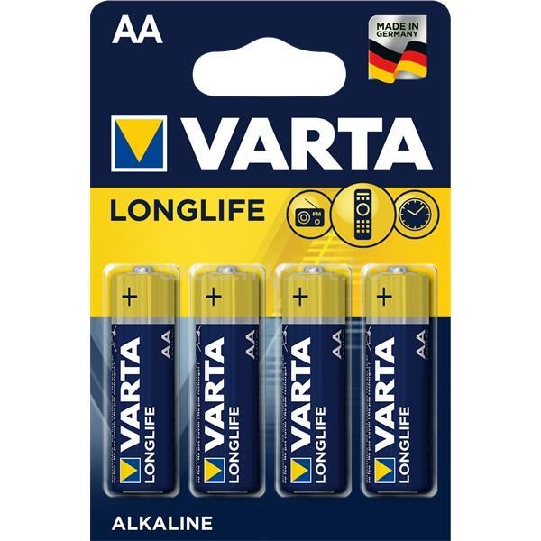 VARTA Longlife  AA alkáli ceruza elem 4db/bliszter