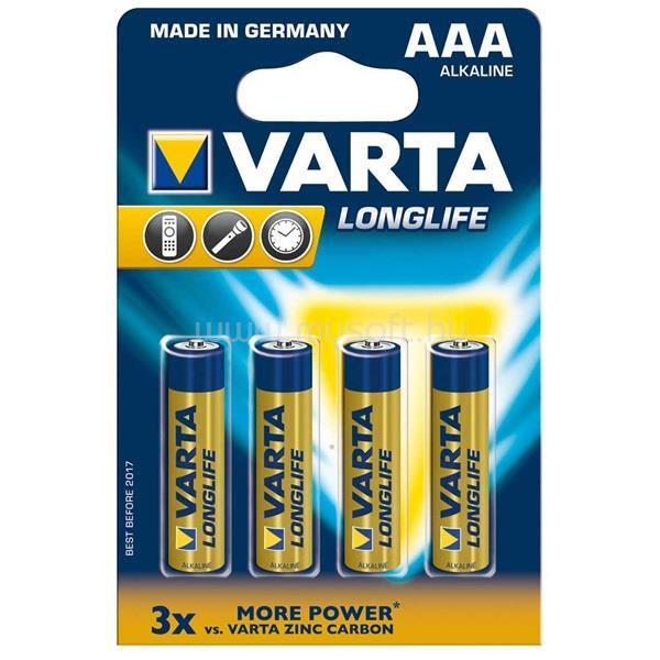 VARTA Longlife AAA alkáli mikro ceruza elem 4db/bliszter