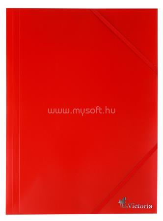 VICTORIA Gumis mappa, 15 mm, PP, A4, piros
