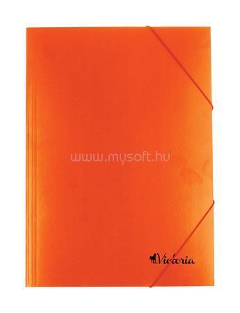 VICTORIA Gumis mappa, karton, A4, narancs