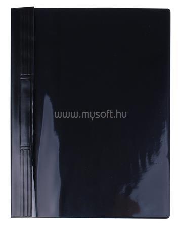 VICTORIA Gyorsfűző, kemény hátlappal, PVC, A4, fekete