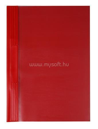 VICTORIA Gyorsfűző, kemény hátlappal, PVC, A4, piros