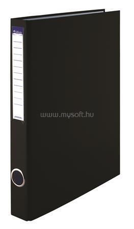 VICTORIA Gyűrűs könyv, 4 gyűrű, 35 mm, A4, PP/karton, fekete