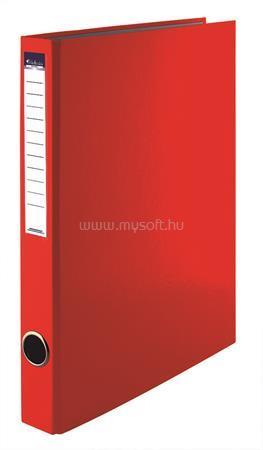 VICTORIA Gyűrűs könyv, 4 gyűrű, 35 mm, A4, PP/karton, piros