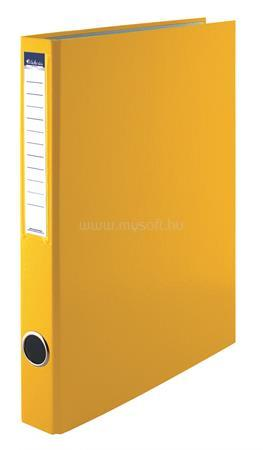 VICTORIA Gyűrűs könyv, 4 gyűrű, 35 mm, A4, PP/karton, sárga