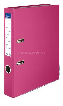 """VICTORIA Iratrendező, 50 mm, A4, PP/karton, élvédő sínnel, """"Basic"""", rózsaszín"""