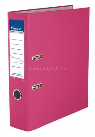 """VICTORIA Iratrendező, 75 mm, A4, PP/karton, """"Basic"""", rózsaszín"""