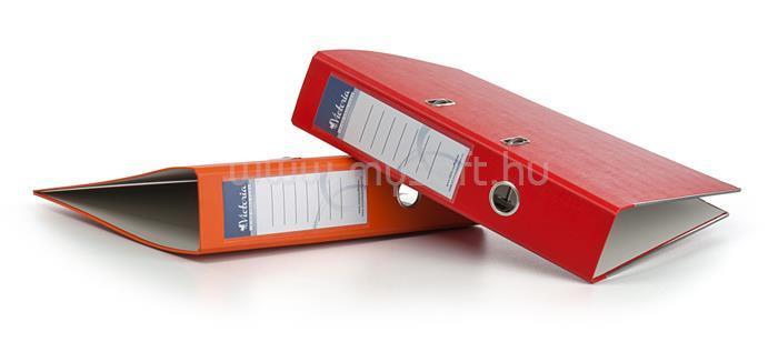 VICTORIA Iratrendező, 75 mm, A4, PP/karton, élvédő sínnel,