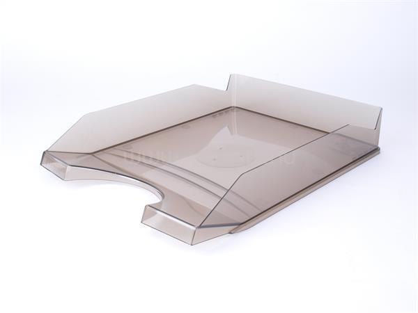 VICTORIA Irattálca, műanyag, áttetsző füstszínű