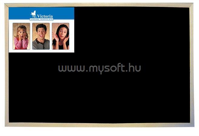 VICTORIA Krétás tábla, fekete felület, nem mágneses, 30x40 cm, fakeret