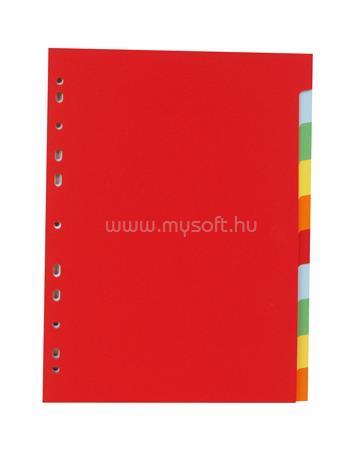 VICTORIA Regiszter, karton, A4, 10 részes, színes