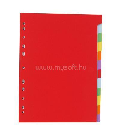VICTORIA Regiszter, karton, A4, 12 részes, színes
