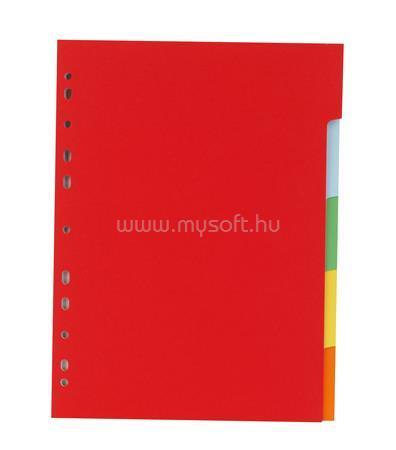 VICTORIA Regiszter, karton, A4, 5 részes, színes