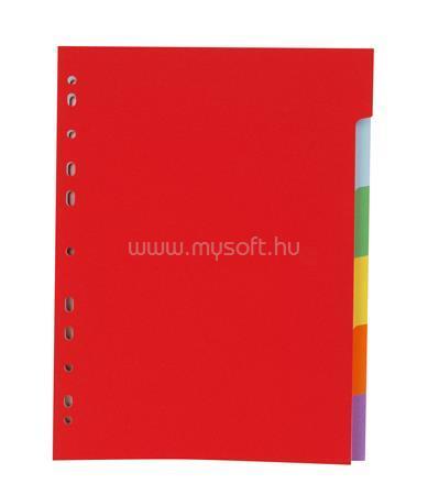 VICTORIA Regiszter, karton, A4, 6 részes, színes