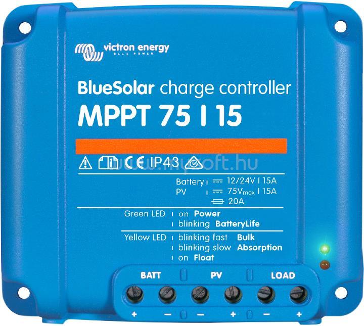 VICTRON ENERGY BlueSolar MPPT 75/10  töltésszabályzó