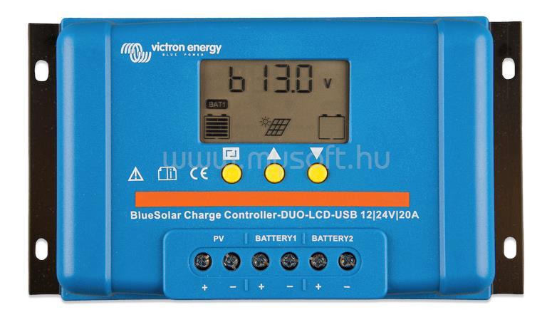 VICTRON ENERGY BlueSolar PWM 20A töltésszabályzó 12/24V USB