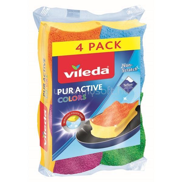 VILEDA Color Pur Active mosogatószivacs 3+1 db-os