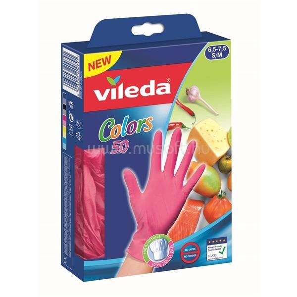 VILEDA Color S/M méret 50db eldobható kesztyű