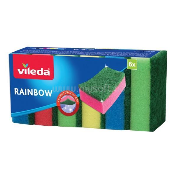 VILEDA Rainbow mosogatószivacs 6 db-os