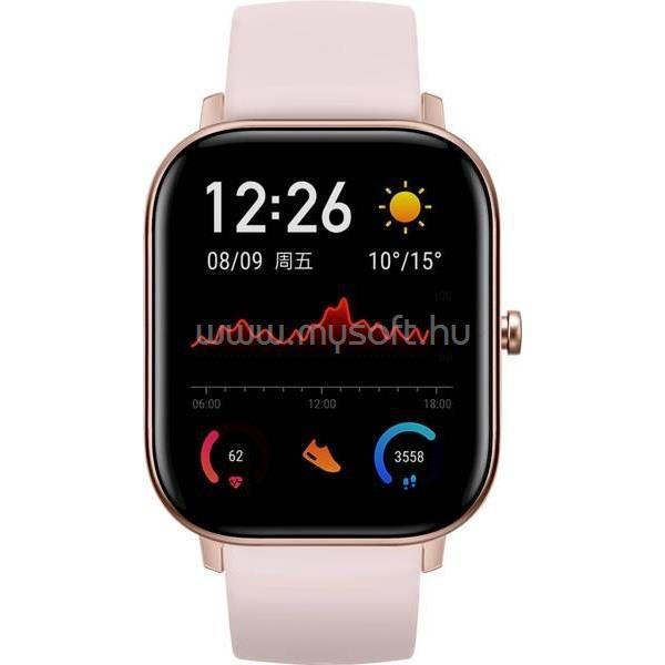 XIAOMI Amazfit GTS GPS-es pink okosóra