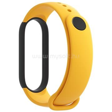 XIAOMI Mi Smart Band 5 szilikon pánt (3 db - kék, sárga, mentazöld)